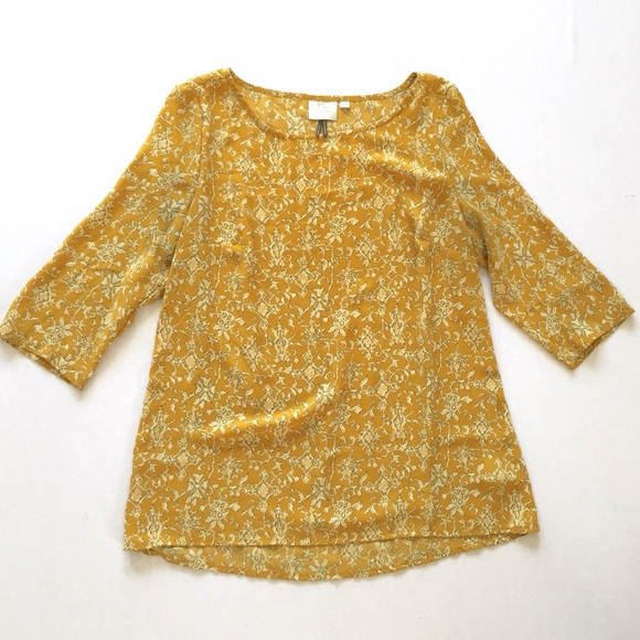 Honey Yellow Print Blouse